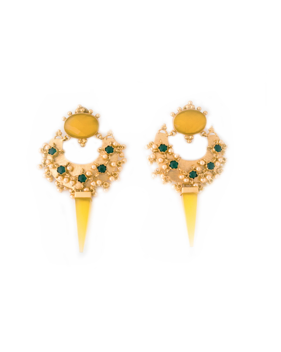 crescent shape earring jewellery by nelly